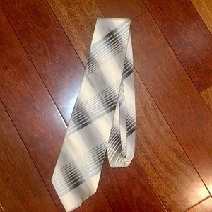 Gucci men's black silver off white tie authentic